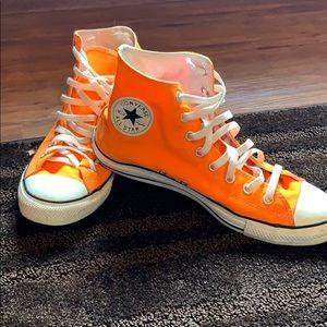 Men's neon orange converse